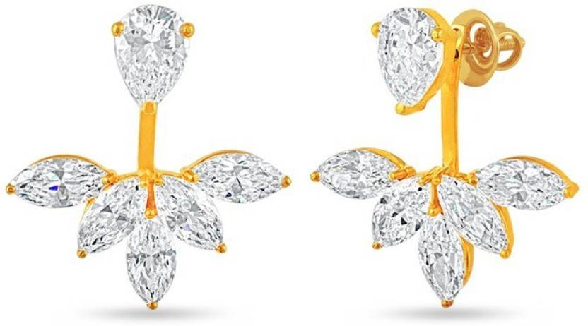1df08bf2f Flipkart.com - Buy VelvetCase Five Marquise Ear-Jackets (Medium) Silver Stud  Earring Online at Best Prices in India