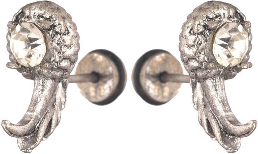 bad74d45f Flipkart.com - Buy Men Style Biker Punk Crystal Dragon Claw PSEr001046  Stainless Steel Stud Earring Online at Best Prices in India
