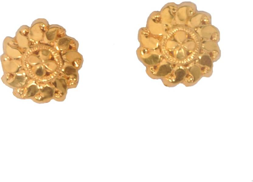 58475cdbd Flipkart.com - Buy Purity Gold 22 K GOLD EARRINGS R LADIES EAR TOPS Metal Stud  Earring Online at Best Prices in India