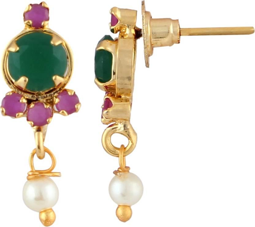 5ad34793d Flipkart.com - Buy Parinaaz Style Diva Cubic Zirconia Alloy Stud Earring  Online at Best Prices in India