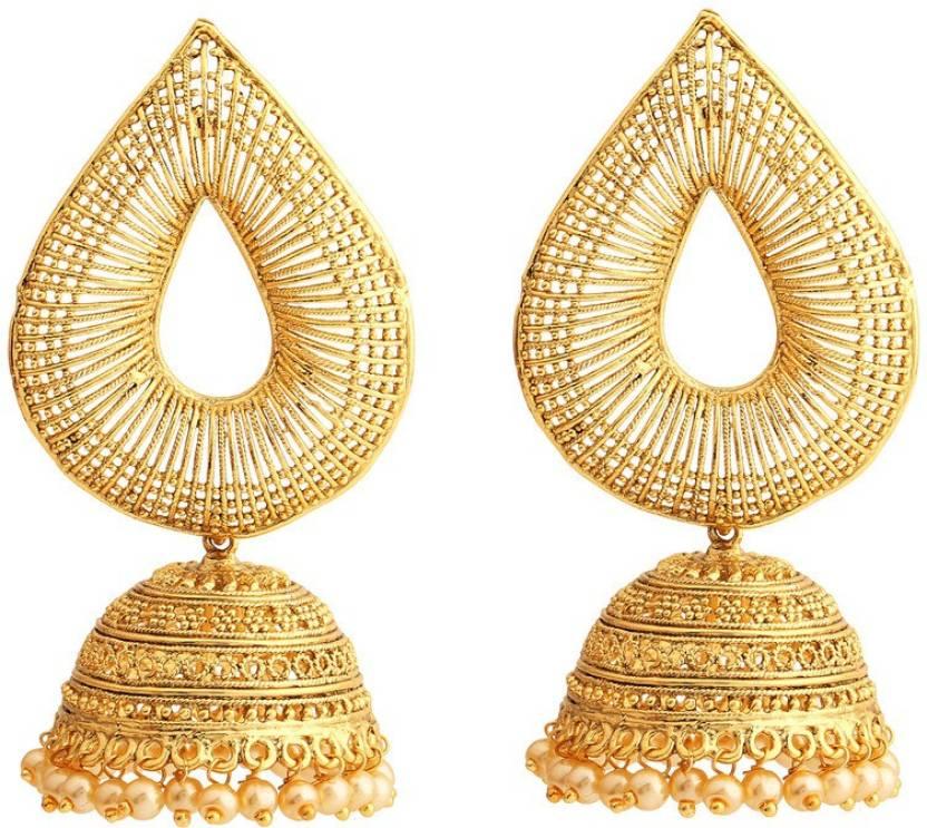 Rajwada Arts Gold Colored Designer Br Jhumki Earring