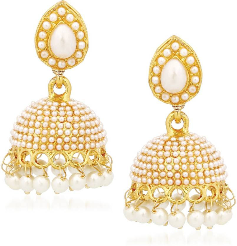 Meenaz Wedding Bridal Saree Pearl Jewellery Set Jhumka Jhumki Earrings For S Women
