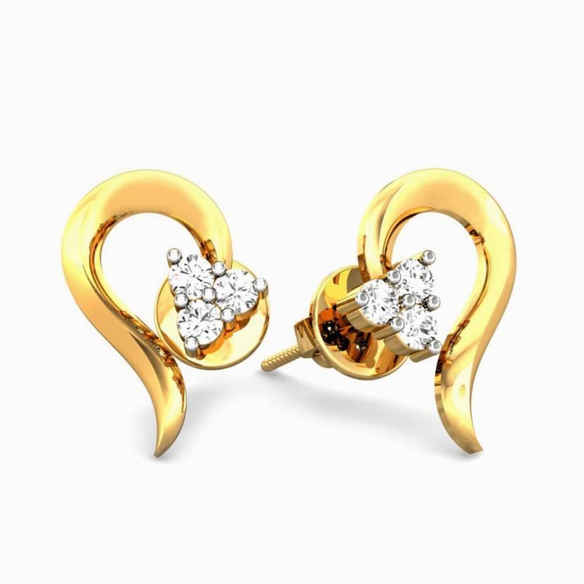 46006729101e0 Samaira Gem and Jewelery Spring Sparkle Yellow Gold 14kt Swarovski Crystal  Stud Earring