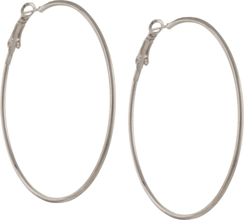 41dd45acb1511 Zephyrr Fashion Large Trendy Hoop Earrings for Girls and Women Alloy Hoop  Earring