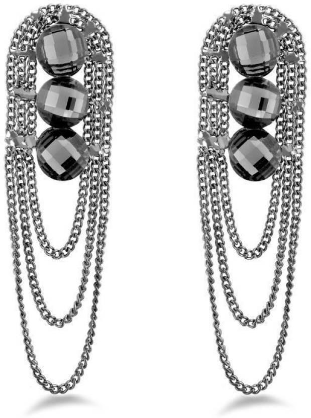 Flipkart.com - Buy Jazz Jewellery Fancy Style Black Color Earrings For  Women s Alloy Drop Earring Online at Best Prices in India d94c8255d