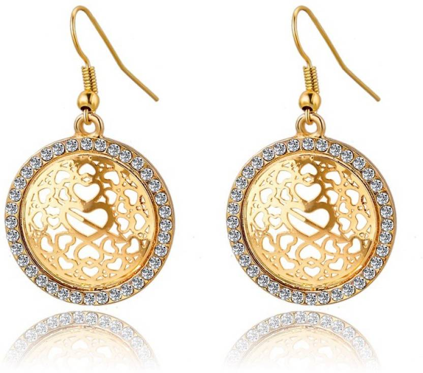 08d369e249b551 Flipkart.com - Buy Hot And Bold Big Round Earrings Crystal Alloy Dangle  Earring Online at Best Prices in India