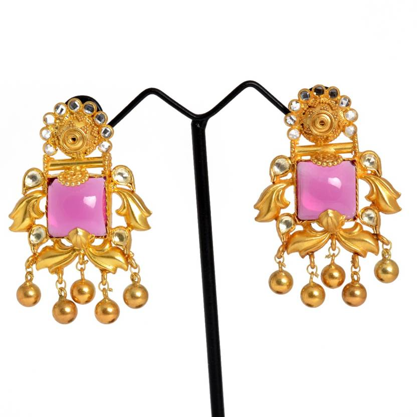 f3d1942ae Flipkart.com - Buy Chandukaka Saraf Style Divine Silver Drop Earring Online  at Best Prices in India
