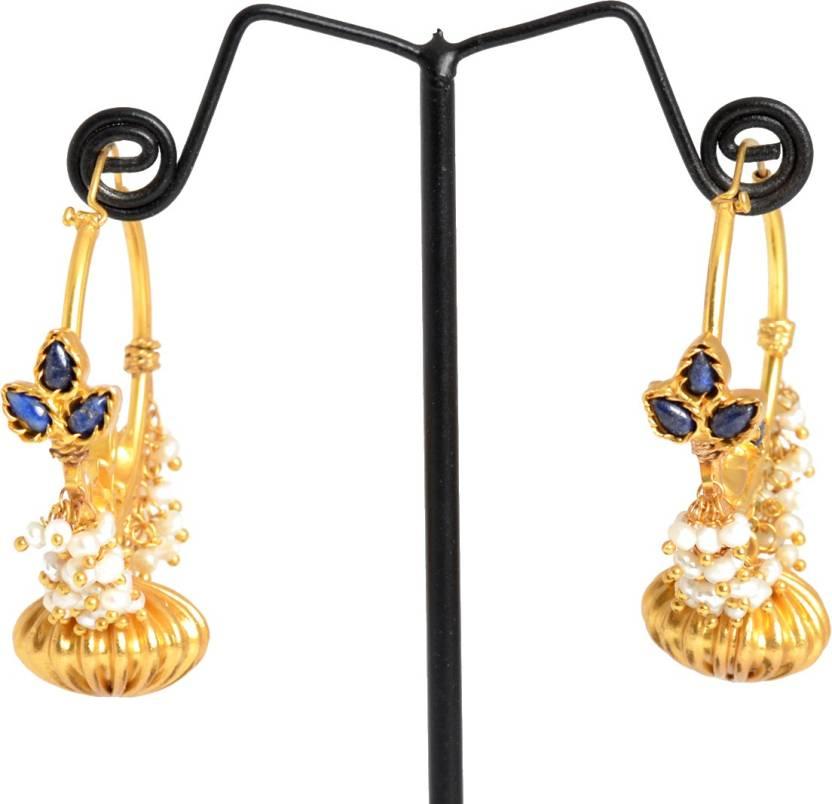 828141f51 Flipkart.com - Buy Chandukaka Saraf Style Divine Silver Hoop Earring Online  at Best Prices in India