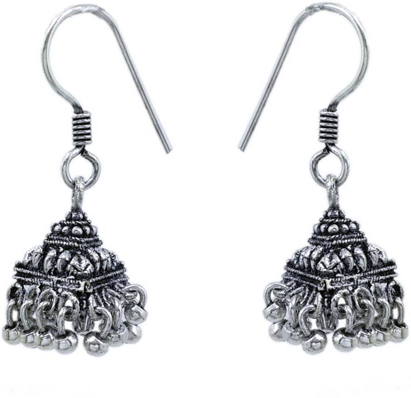 6c66f8ff3 Flipkart.com - Buy V L Impex Oxidised Silver Plated Small Size Alloy Jhumki  Earring Online at Best Prices in India