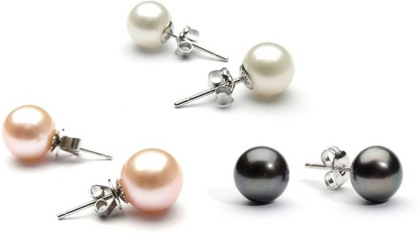 52a782bca4aee Prisha Royal Sutd Pearl Silver Stud Earring