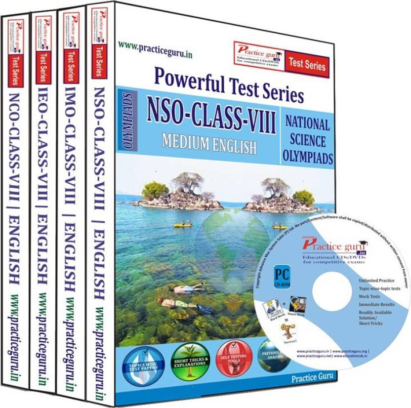 Practice Guru Class 8 - Combo Pack (IMO / NSO / IEO / NCO