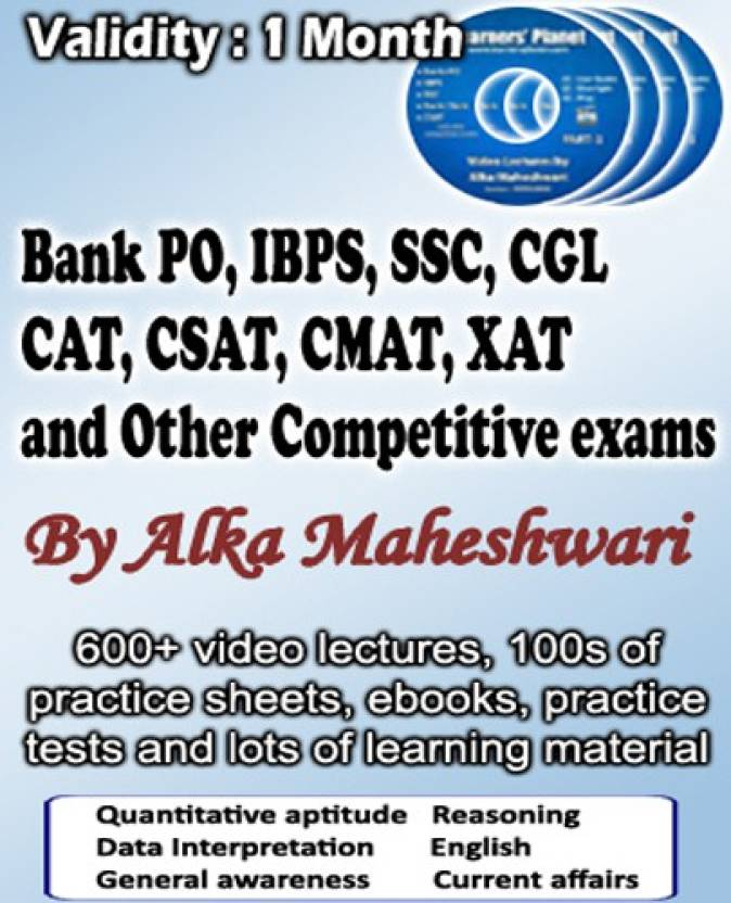 iBooks Bank PO, IBPS, CAT, CSAT, CAMT, SSC, CGL video lecture (1 Month Premium Plus Plan) Single user