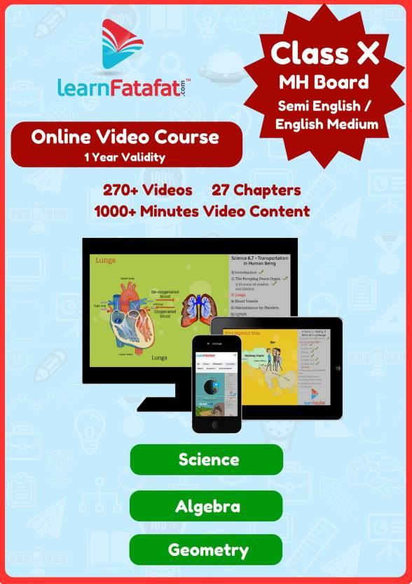 LearnFatafat SSC Algebra, Geometry, Science MH Board Class