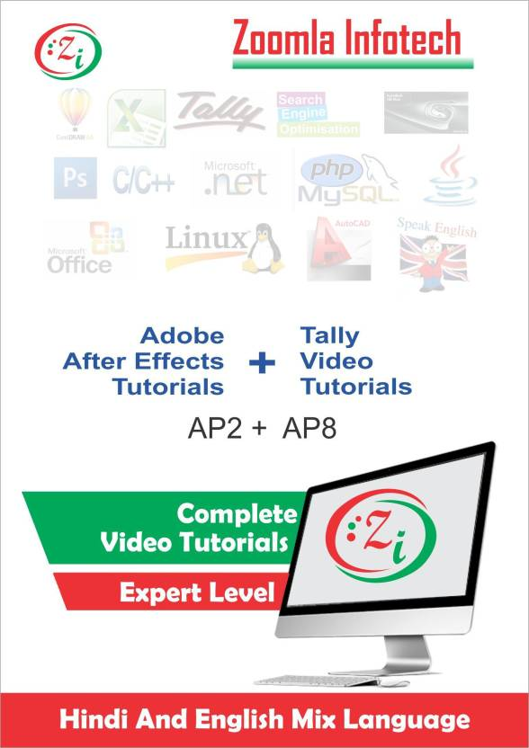 Zoomla Infotech Tally9+ Adobe After Effects Video Tutorials