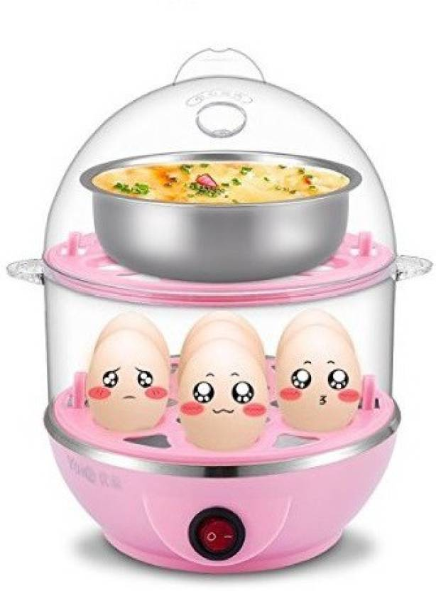 Vmore Multi-Function 2 Layer Electric Boilers Steamer Poucher Egg Cooker