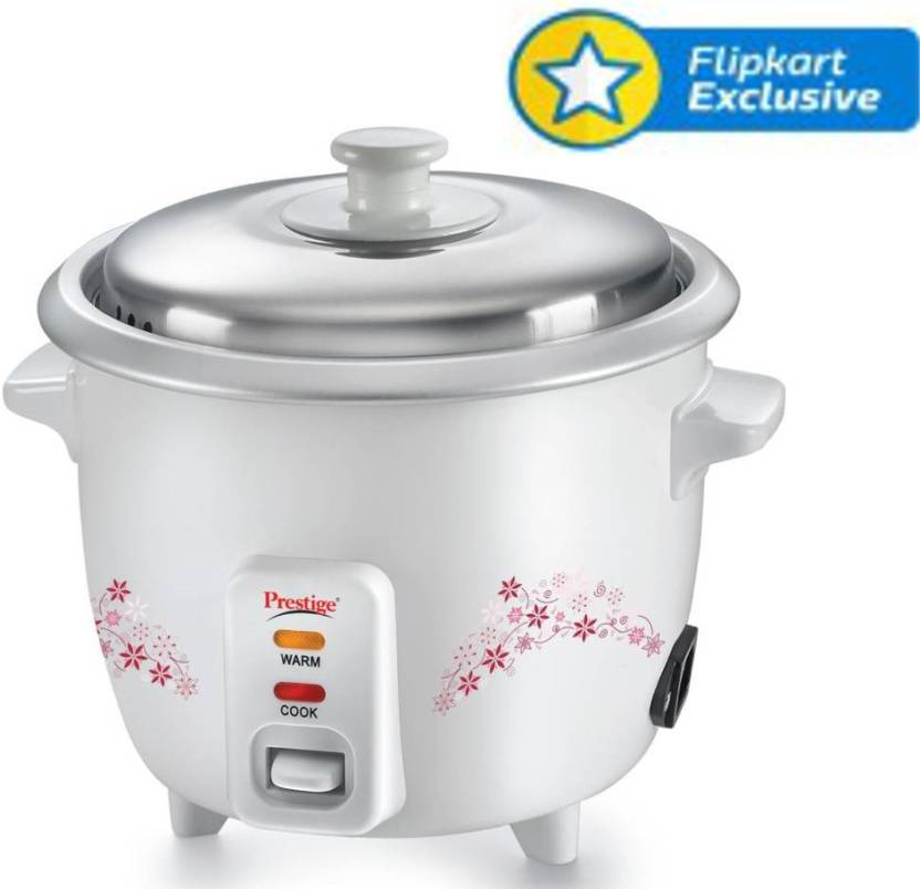Prestige Delight PRWO - 1.5 Electric Rice Cooker with Steaming Feature