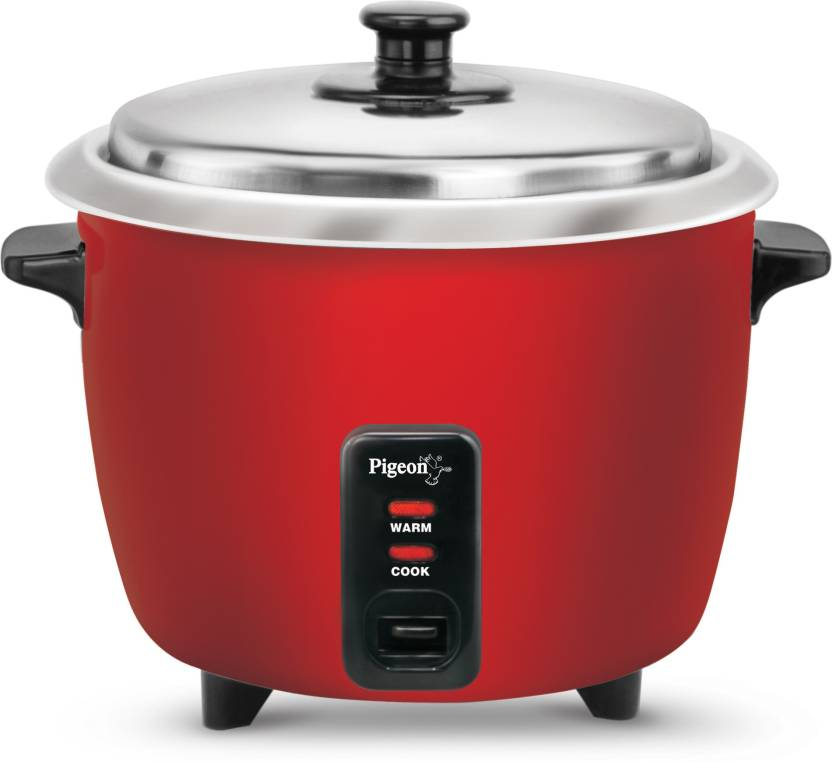 Pigeon Joy Electric Rice Cooker with Steaming Feature