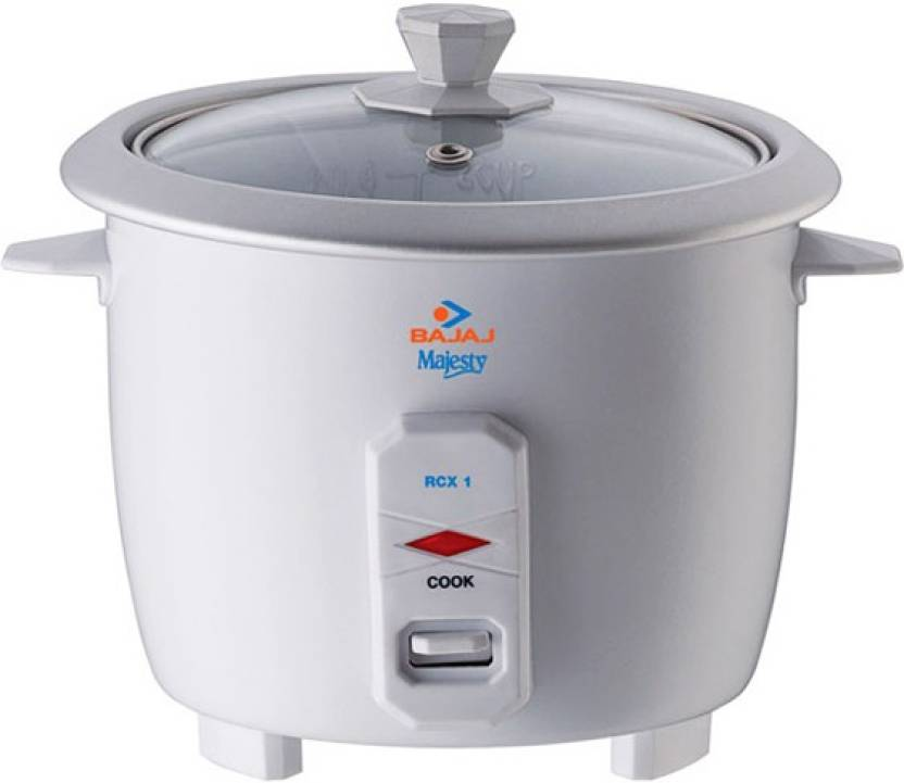 Bajaj RCX 1 mini Electric Rice Cooker (0.4 L, White)