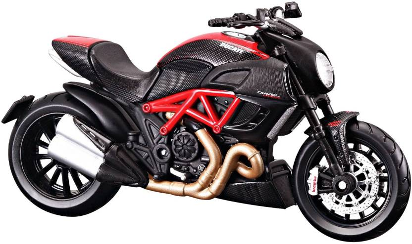 Maisto Ducati Diavel Carbon 1 18 Toy Bike Model Black Red