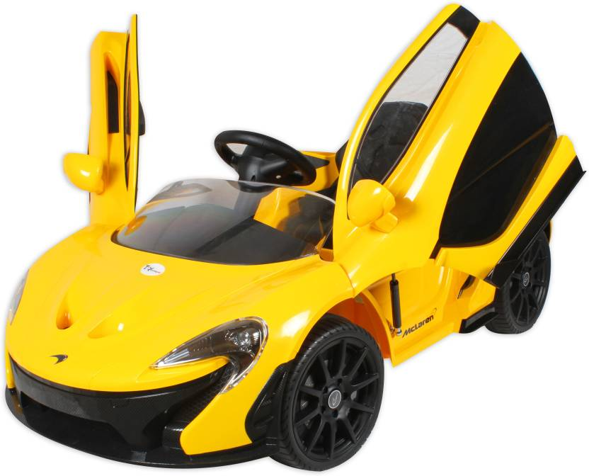 Toyhouse Officially Licensed Mclaren P1 12v Rechargeable Car Battery Operated Ride On Yellow