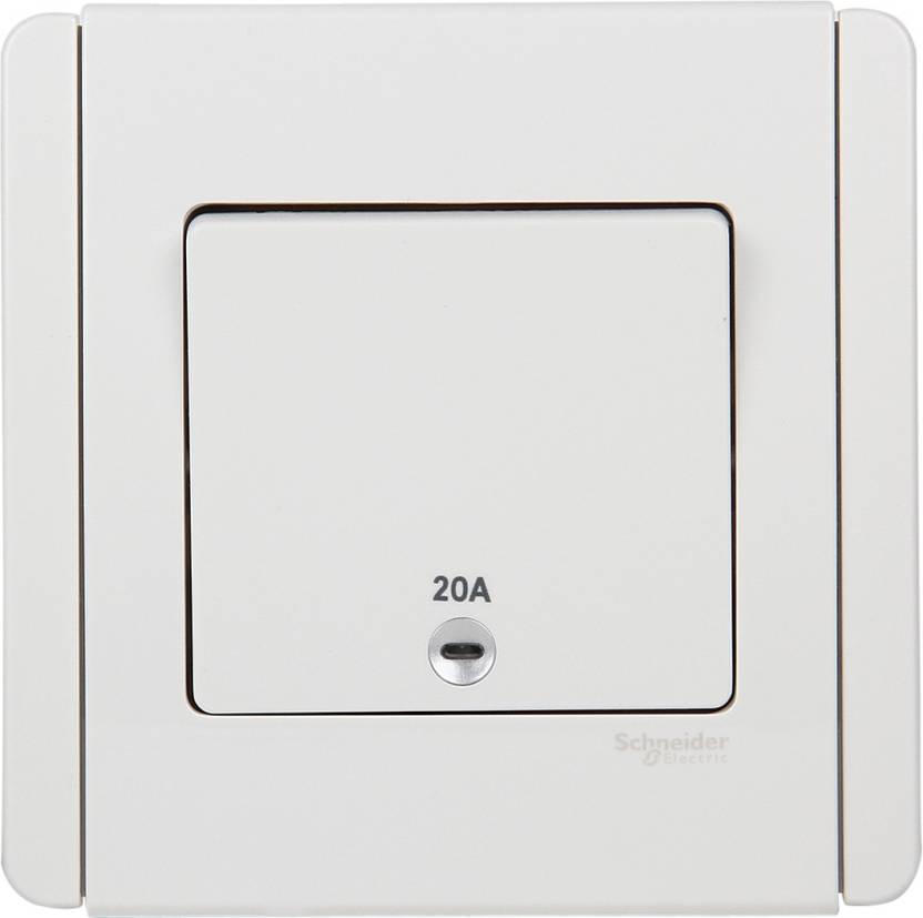 Schneider Stylish Make 20 One Way Electrical Switch Price in India ...
