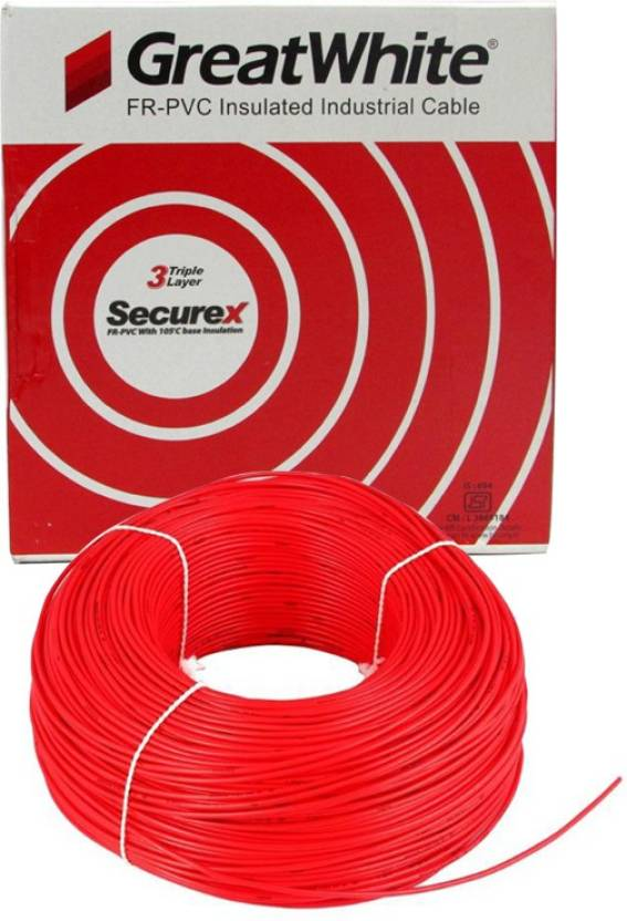 Great White Fr Pvc (C1) 1 sq/mm Red 90 m Wire Price in India - Buy ...