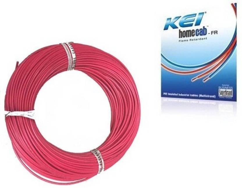KEI FR PVC, PVC 1.5 sq/mm Red 180 m Wire Price in India - Buy KEI FR ...