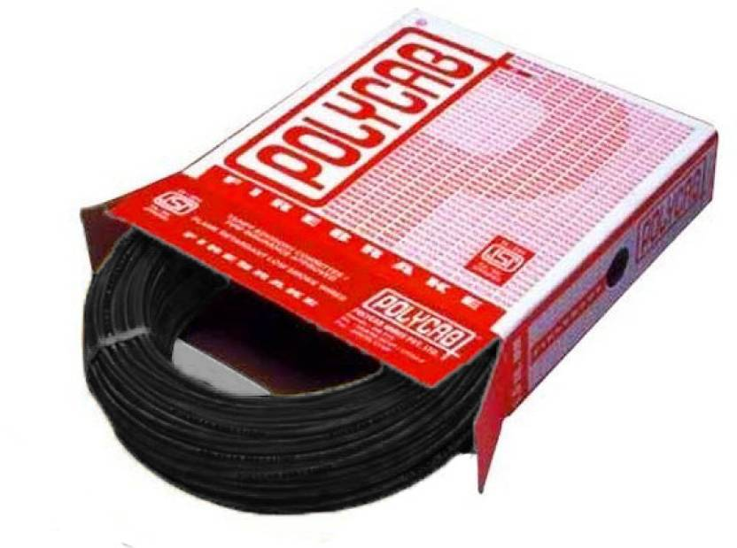 Polycab FR PVC, PVC 1 sq/mm Black 90 m Wire Price in India - Buy ...