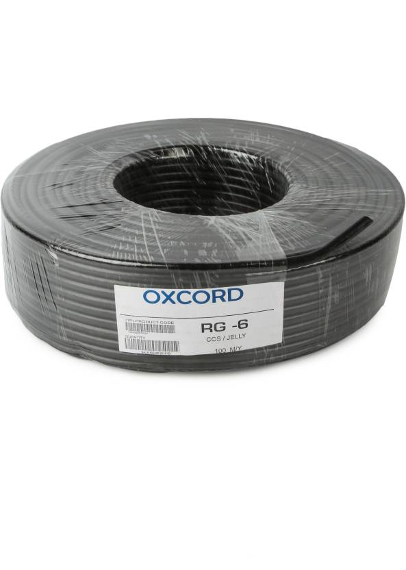 OXCORD RG-6 CO-AXIAL T.V CABLE PVC Black 90 m Wire Price in India ...