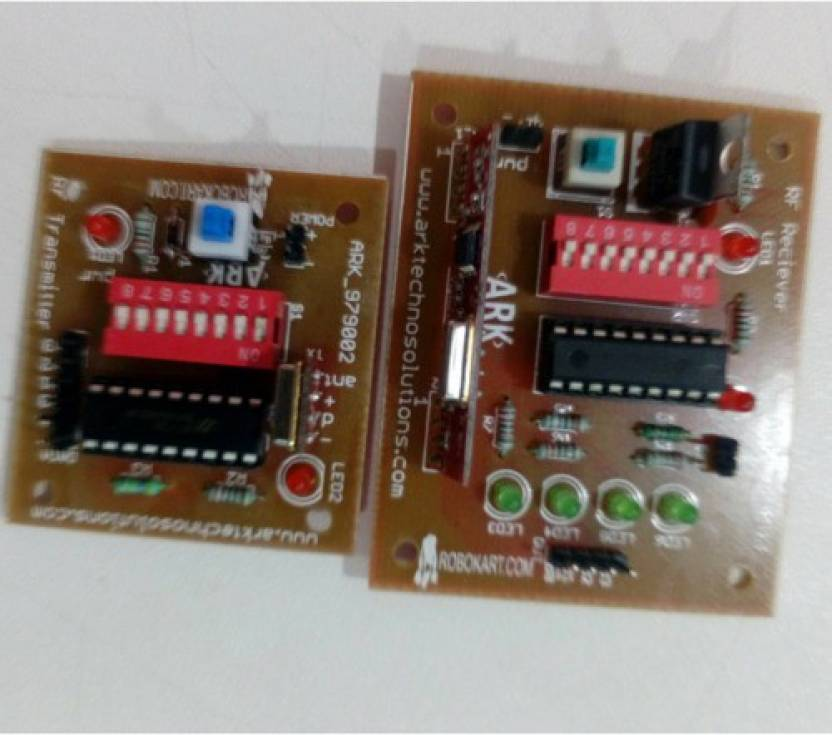 Robokart RF transmitter and receiver(434 MHz) pair for