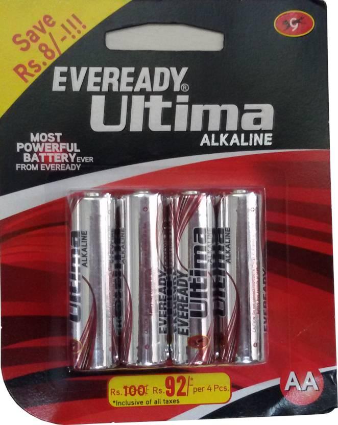 Eveready 2115 Ultima Alkaline AA BP4 Emergency Lights