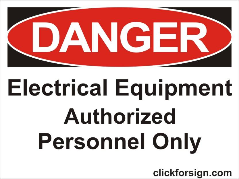 clickforsign Electric Equipment Authorized personnel only