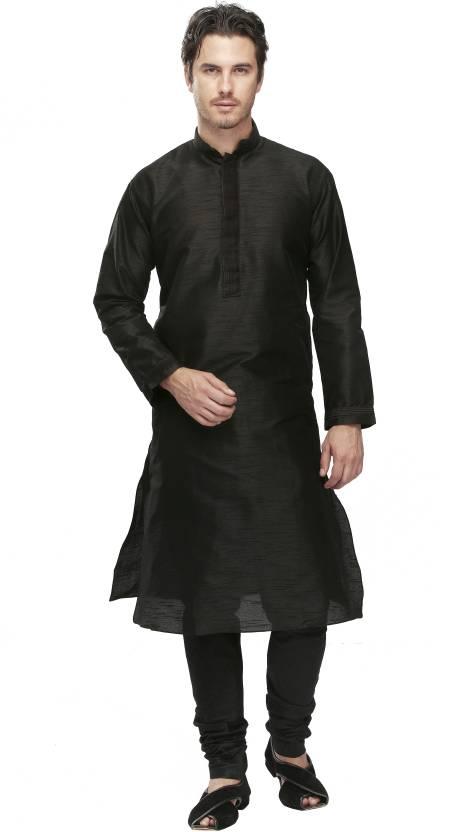 499e205265 Manyavar Men's Kurta and Churidar Set - Buy Black Manyavar Men's Kurta and Churidar  Set Online at Best Prices in India | Flipkart.com