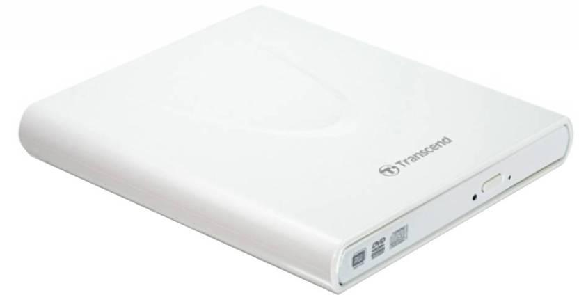 Transcend Slim Portable CD/DVD Writer (White)