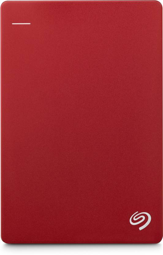 Seagate Plus Slim 1 TB Wired External Hard Disk Drive  (Red, Mobile Backup Enabled)