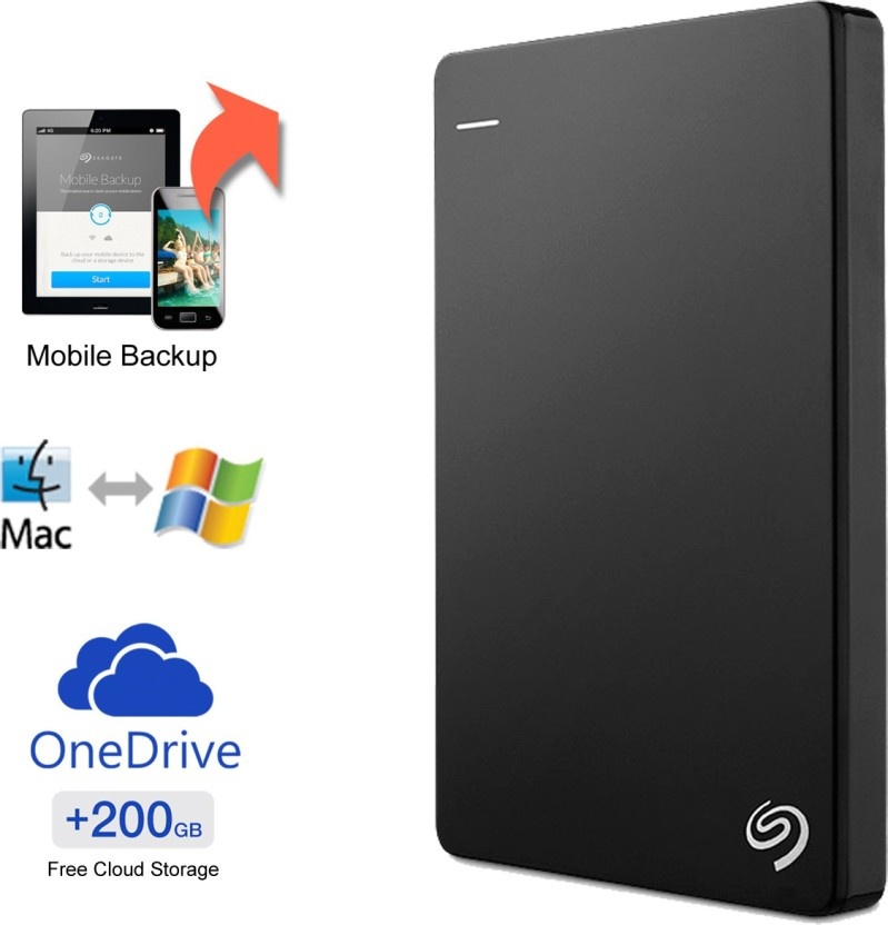 """Black 500GB External Portable 2.5/"""" USB Hard Drive HDD With Warranty Free Pouch"""