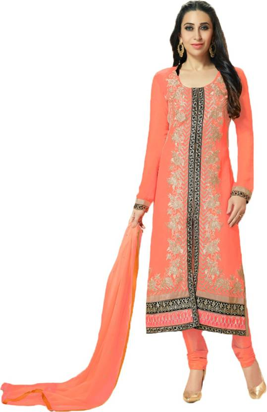 e851f77ae2 Party Wear Dresses Georgette Embroidered Semi-stitched Salwar Suit ...