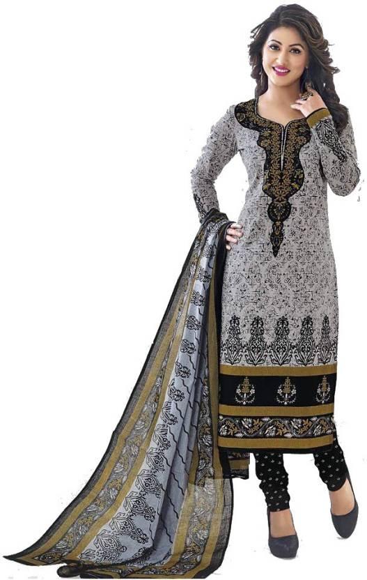 205bf73052 pranjul Cotton Printed Kurta & Churidar Material Price in India ...