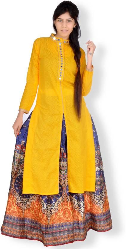 7ed6a09d46 Vesh Cotton Printed Semi-stitched Lehenga Kurta Material Price in India -  Buy Vesh Cotton Printed Semi-stitched Lehenga Kurta Material online at  Flipkart. ...