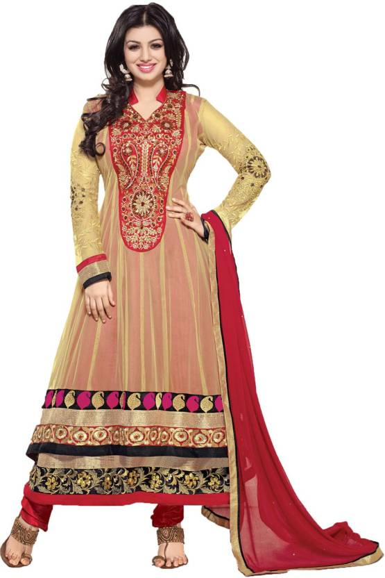 bd52abda23 Party Wear Dresses Georgette Embroidered Semi-stitched Salwar Suit Dupatta  Material Price in India - Buy Party Wear Dresses Georgette Embroidered ...