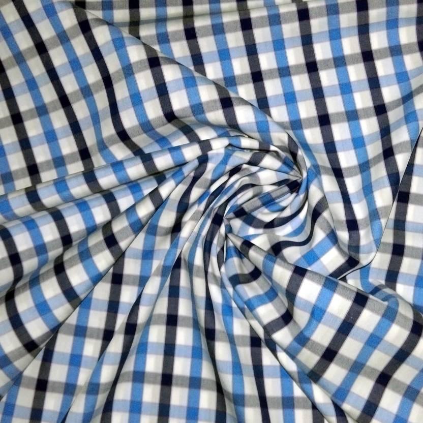 moretti italy shirtings Cotton Checkered Shirt Fabric Price