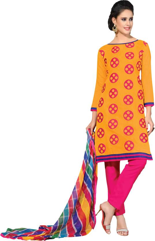 44cb955c650 Suchi Fashion Chanderi Embroidered Salwar Suit Dupatta Material (Un-stitched )
