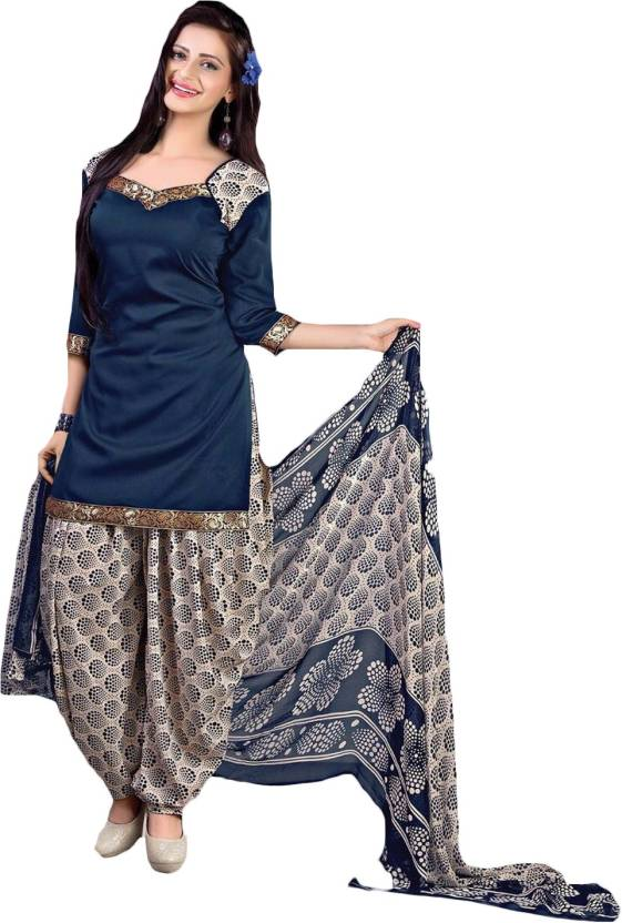 Giftsnfriends Synthetic Printed Salwar Suit Dupatta Material  (Un-stitched)