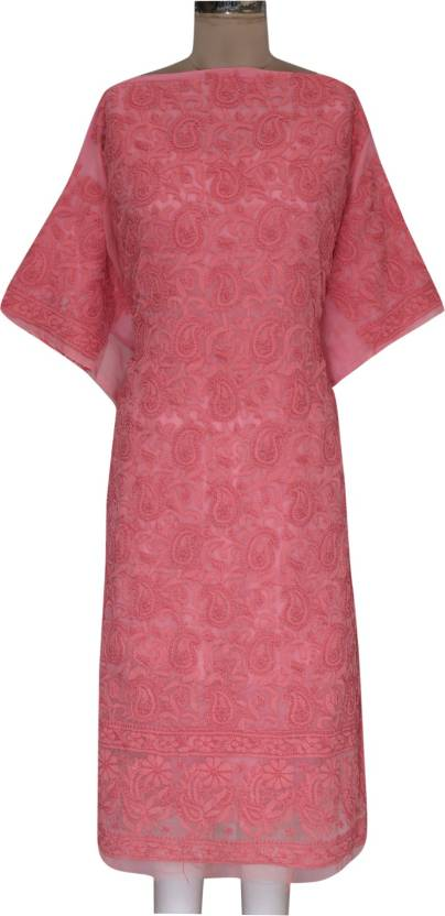 Ada Georgette Embroidered Kurta Fabric