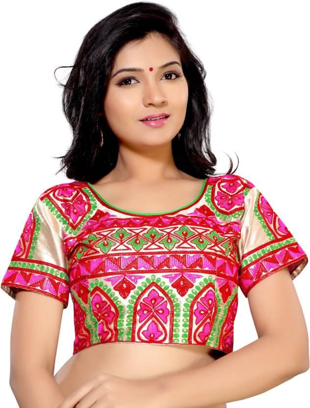 0defb498b14b8 SareeShop Silk Checkered Blouse Material Price in India - Buy ...