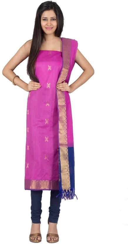 b644f27428 IndiaInMyBag Cotton Silk Blend Self Design Salwar Suit Dupatta Material