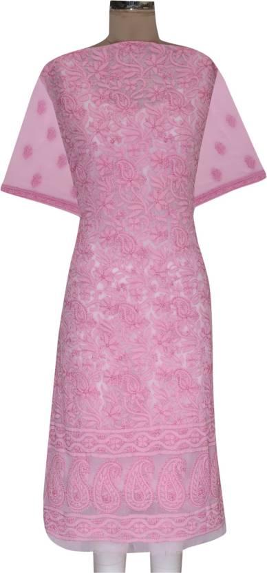 Ada Georgette Embroidered Kurti Fabric