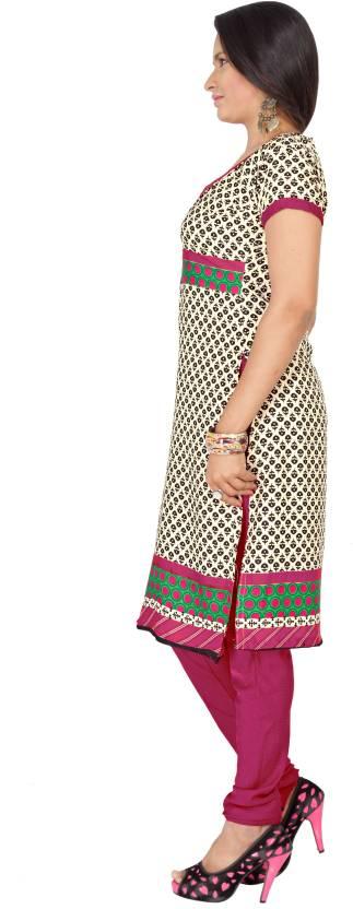 Khushali Crepe Self Design, Printed Dress/Top Material(Un-stitched)