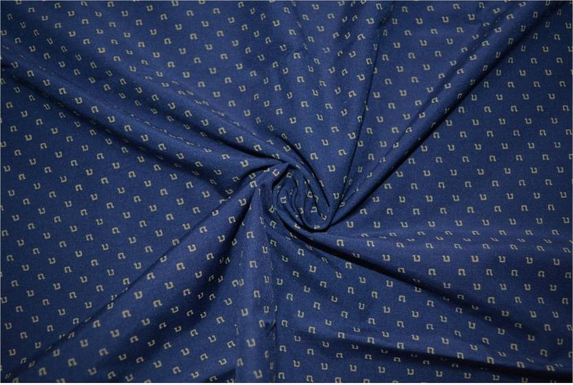 V Walkers Cotton Polyester Blend Printed Shirt Fabric Price In India