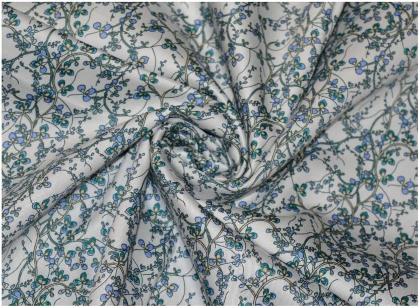V Walkers Satin Floral Print Shirt Fabric Price In India Buy V